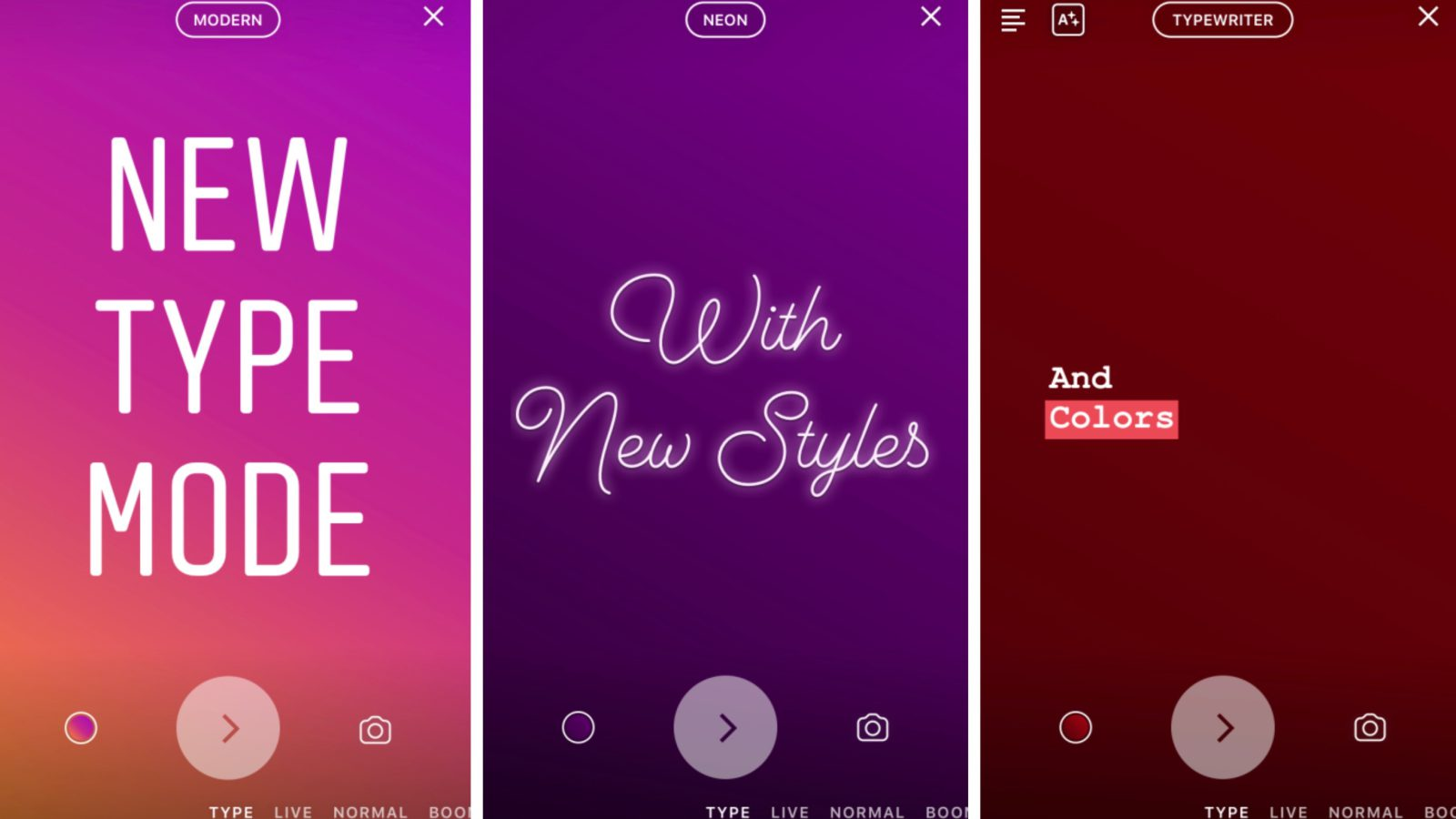 Instagram For Ios Adds New Type Text Mode For Story